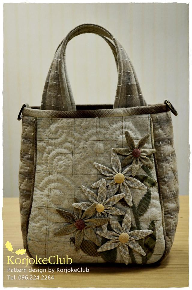 กระเป๋าควิลท์ ผ้าญี่ปุ่นนำเข้า กระเป๋าถือ